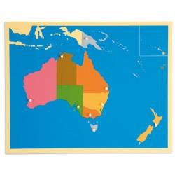 Карта пъзел: Австралия