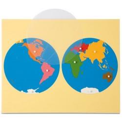 Карта пъзел: Континентите