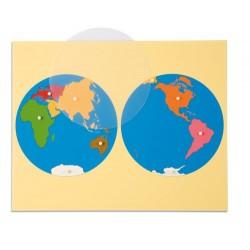 Карта пъзел: Континенти - Азия сечение