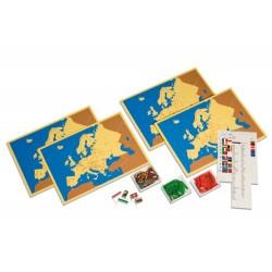Четири карти на Европа