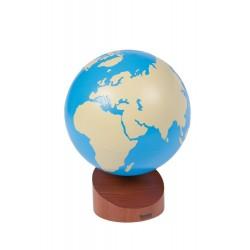 Глобус с частите на света