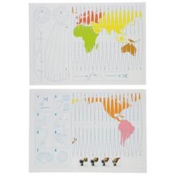 Комплект от 10 карти – Проекция на глобус