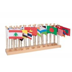 Стойка със знамена на държави – Азия