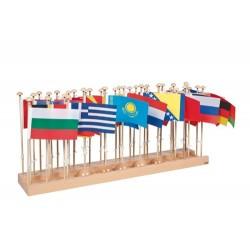Стойка със знамена на държави – Европа