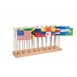 Стойка със знамена на държави – Сев. и южна Америка (без Кариби)