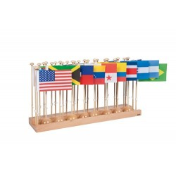 Flag Stand Of North & South America - Without Caribbean