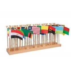 Стойка със знамена на държави – Африка