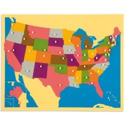 Карта пъзел - САЩ