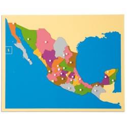 Карта пъзел: Мексико