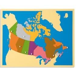 Карта пъзел: Канада