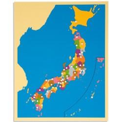 Карта пъзел: Япония