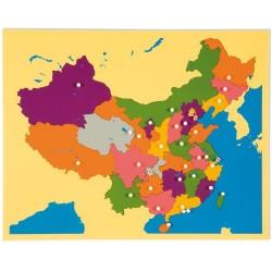 Карта пъзел: Китай