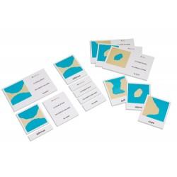 Сухоземни и водни релефни форми: Комплект карти