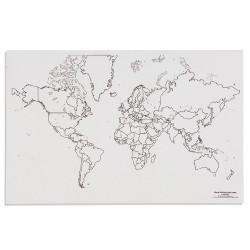Карта на света: Политическа с езера (50)