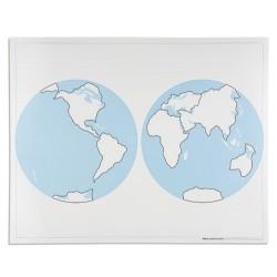 Контролна карта на света- необозначена