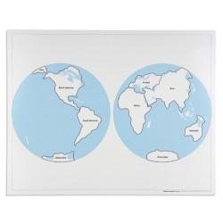 Контролна карта на света- обозначена