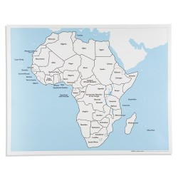 Контролна карта Африка: обозначена