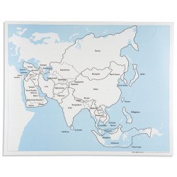Контролна карта Азия: обозначена