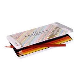 Цветни шестоъгълни моливи Goldline -метална кутия с 12 молива в различни цветове