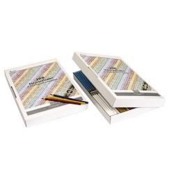 Цветни триъгълни моливи Goldline - Картонена кутия с 24 молива в 12 различни цвята