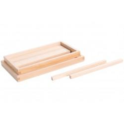 Кутия с призми за кафява стълба
