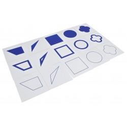 Геометрични форми: синъо и жълто
