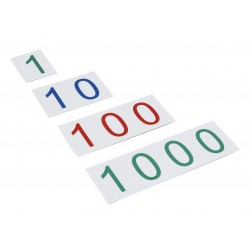 Пластмасови числови карти: Големи от 1 до 1000