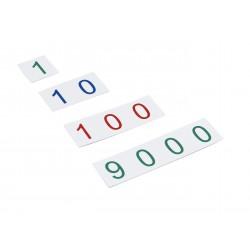 Пластмасови числови карти: малки от 1 до 9000