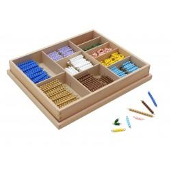 Кутия с пръчици с мъниста (pvc/гланц) за умножение
