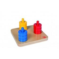 Цветни дискове на цветни стълбове