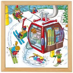 Пъзели- ваканция: зимни спортове