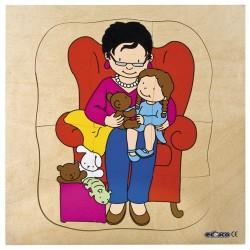 Пъзели, представящи растежа: баба