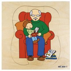 Пъзели, представящи растежа: дядо