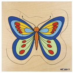 Пъзели, представящи растежа: пеперуда