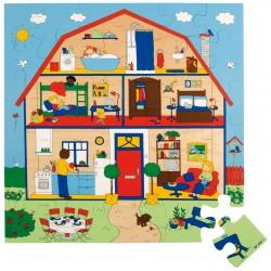 Пъзел за под: къща
