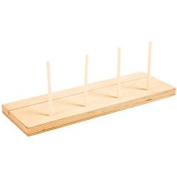 Намерете и пребройте по цвят - Допълнителна дървена стойка (4 колчета)