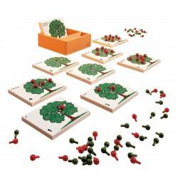 Комплект за броене с ябълкови дръвчета