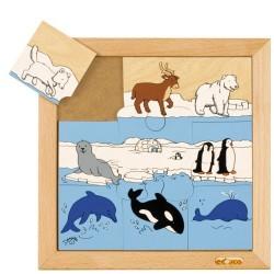 Пъзел с полярни животни