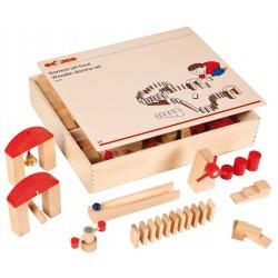 Дървен комплект домино