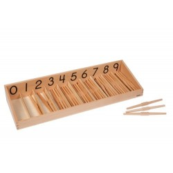 Кутия с дървени вретеновидни пръчки