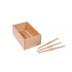 Кутия за съхранение на дървени вретеновидни пръчки
