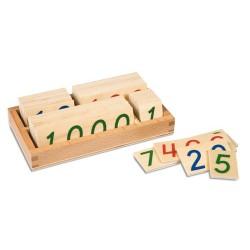 Дървени числови карти: малки 1- 9000