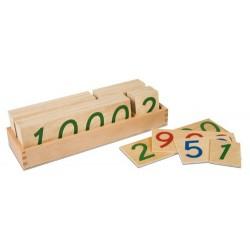 Дървени числови карти: големи 1-9000