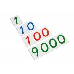 Plastic number cards: large 1-9000