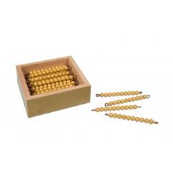 Кутия с 45 златни пръчици в кутия  (pvc/мат)