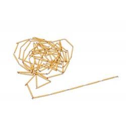 Golden bead chain of 1000: individual beads nylon