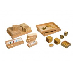 Материал със златни мъниста (pvc/мат)