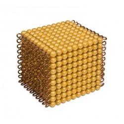 One golden bead cube of 1000: individual beads nylon