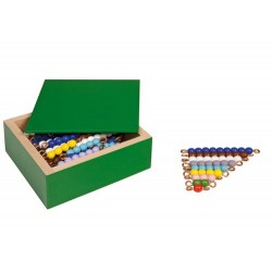 Colored bead stairs- individual beads glass: 10 sets
