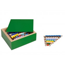 Colored bead stairs- individual beads nylon: 10 sets